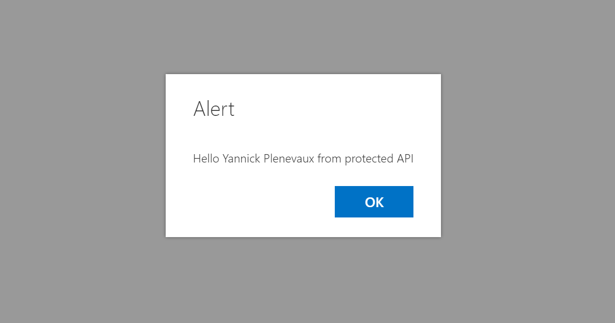 Call your protected API from SPFx solutions